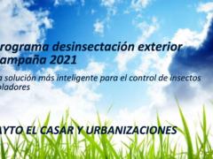 El Ayuntamiento de El Casar publica el programa de desinfección de exteriores contra los mosquitos