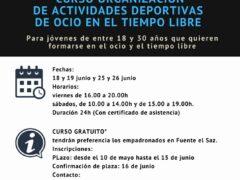 Nuevo curso gratuito para jóvenes de Fuente el Saz, Talamanca de Jarama, Valdetorres y Valdepiélagos
