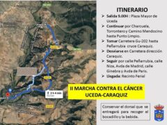 Adquisición de dorsales en la «II Marcha contra el Cáncer» de Uceda