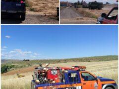 Protección Civil de Uceda, preparada en el campo ante cualquier incidente debido a la cosecha