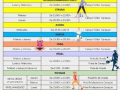 El Ayuntamiento de Uceda programa un mes de julio lleno de actividades deportivas