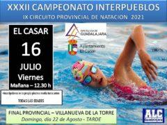 El Campeonato Interpueblos de Natación llega a El Casar y Uceda