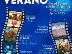 Cine de Verano en Talamanca de Jarama, en el patio de La Cartuja