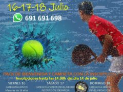 Tres días de maratón de pádel, a mediados de julio, en Caraquiz