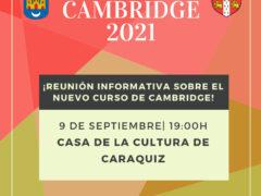 Certificado oficial de Cambridge en la Casa de la Cultura de Caraquiz (Uceda)