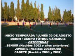 El Club Caraquiz-Uceda E.F. organiza su nueva temporada para el curso 2021/2022