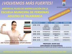 Talamanca de Jarama abre el plazo de matriculación para la Escuela Municipal de Adultos