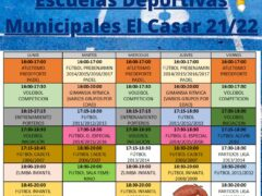 El Servicio Deportivo Municipal de El Casar ya ha organizado las actividades para el curso 2021/2022