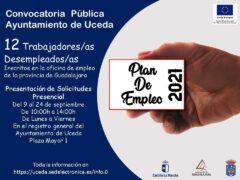 Oferta de empleo del Ayuntamiento de Uceda para 12  personas desempleadas