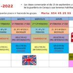 Comienzan las clases de inglés en Caraquiz, para todas las edades