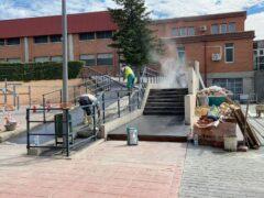 Importante plan de rehabilitación y mejora de las instalaciones del polideportivo municipal de Fuente el Saz