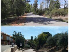 La Diputación Provincial visita Uceda para visitar las obras de asfaltado de la M-128 y la GU-202