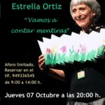 Estrella Ortiz narrará «Vamos a contar mentiras», en el patio de la biblioteca de El Casar